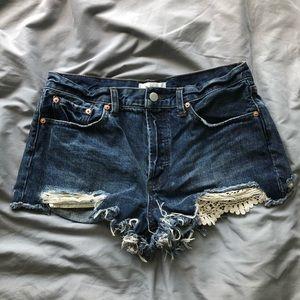 free people shorts (: